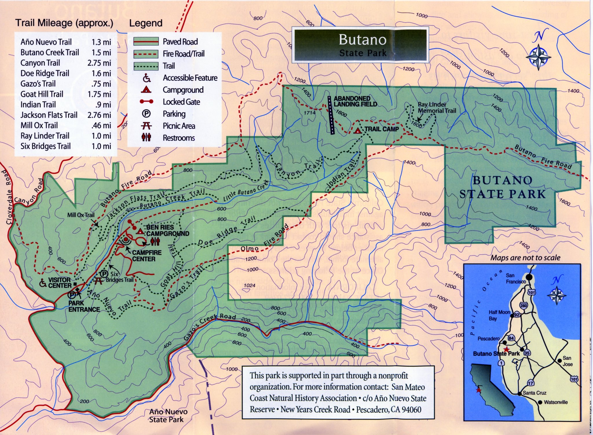 Butano State Park Trail Map